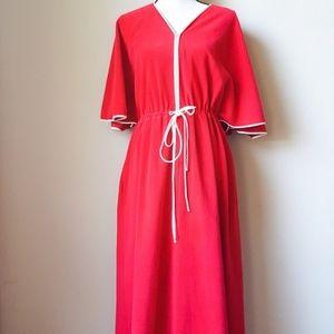 Vintage Vanity Fair Red Zip Up Robe